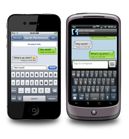 Cross platform messaging at your fingertips.